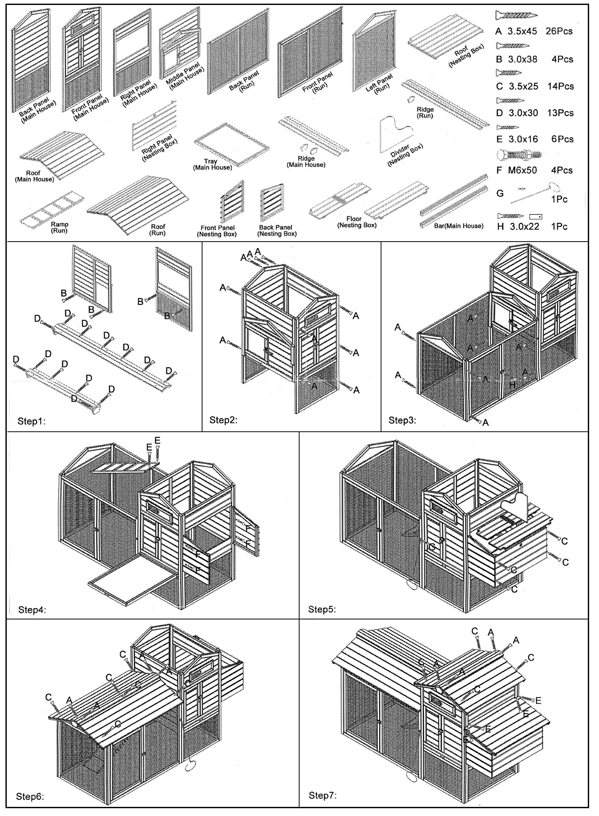 e44546f19ad5 Ξύλινο σπιτάκι-κλουβί διώροφο για κουνέλια και κότες τύπου καλύβας